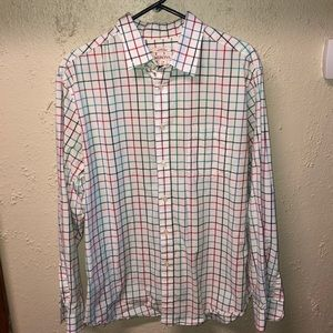 Merona Men's Striped Button Down Large